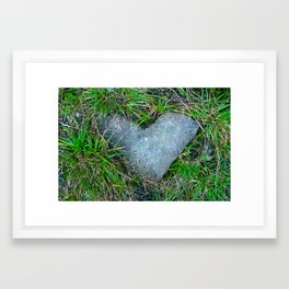 stoned heart Framed Art Print