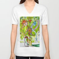 alchemy V-neck T-shirts featuring Alchemy  by LuxMundi