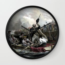 Washington's Adieu To His Generals Wall Clock