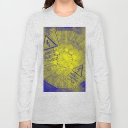 Abstract risk of electric shock Long Sleeve T-shirt