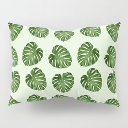 Palm Leaves, Leaf Pattern - Green Pillow Sham