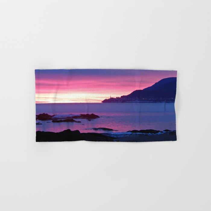 Winter's Dawn on the Coast Hand & Bath Towel