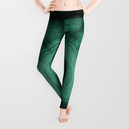 Malachite detailed pattern Leggings