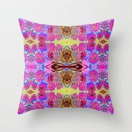 Art Nouveau Cactus Antiqued Throw Pillow
