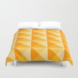 Geometric Prism in Sunshine Yellow Duvet Cover