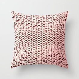 Pattern of red brushed metal cylinders Throw Pillow