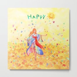 Happy sunshine Metal Print