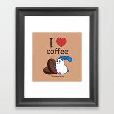 Ernest | Love coffe Framed Art Print