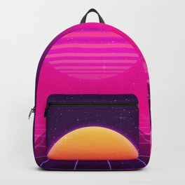 Futuristic space background Backpack