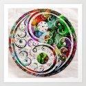 Yin Yang Zen Art Abstract Paintings Modern Watercolor Robert R Splashy Art by robertr