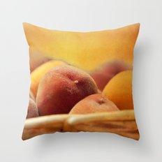 Fuzzy Peach Throw Pillow