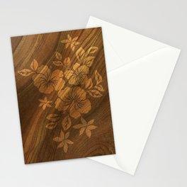 Lilikoi Hibiscus Hawaiian Textural Pareau Design Stationery Cards