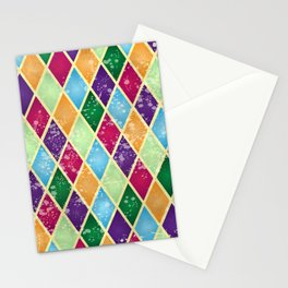 Rainbow harlequin Stationery Cards