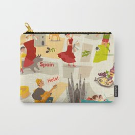 Abstract Spain vector map. Illustrated map of Spain for children/ Carry-All Pouch
