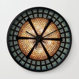 Chicago Train Stained Glass Wall Clock