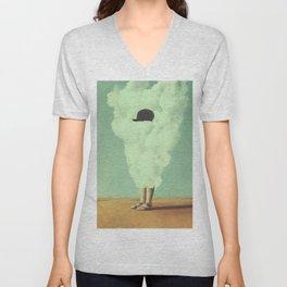 Magritte's Bowler Hat Unisex V-Neck