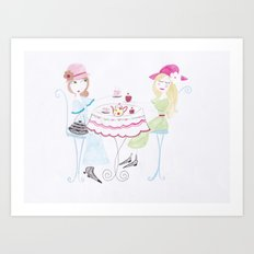 The tea party :) Art Print