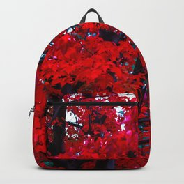 Red Maple leaves Backpack