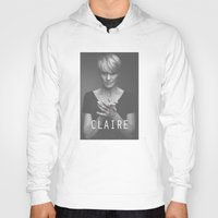 frank underwood Hoodies featuring Claire Underwood / House of Cards by Earl of Grey