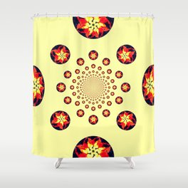 Fireballs Shower Curtain