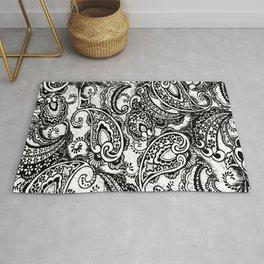 paisley batik black Rug