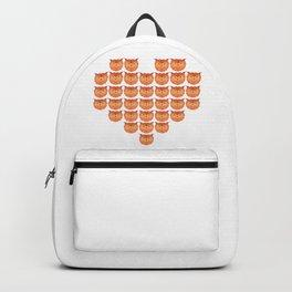 Heart Owl Bird Backpack