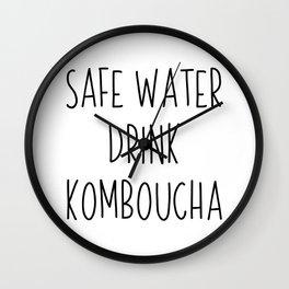 Safe Water Drink Kombucha | gift idea Wall Clock
