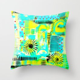 Acid Burst Throw Pillow
