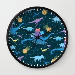 Funky Dinos Wall Clock