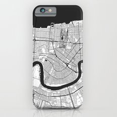 New Orleans Map Gray Slim Case iPhone 6s