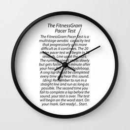 THE FITNESSGRAM PACER TEST - QUOTE Wall Clock