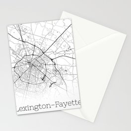 Map of the City Neck Gaiter Lexington Fayette Kentucky Map Neck Gator Stationery Cards