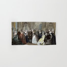 Franklin's Reception At The Court Of France Hand & Bath Towel