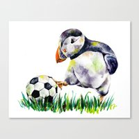 football Canvas Prints featuring Football by Anna Shell