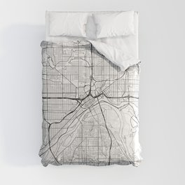 St Paul Map White Comforters