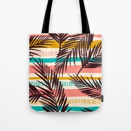 Tribal Tropical Leaf Pattern Tote Bag