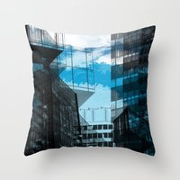 urban Throw Pillows featuring Urban by Marian - Claudiu Bortan