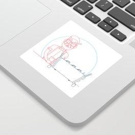 Coffee (lineart) Sticker