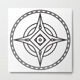 Compass 2 Metal Print
