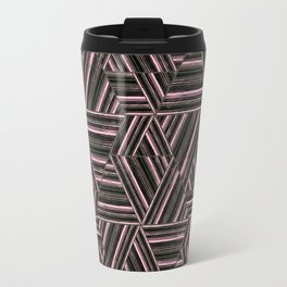 Abstract striped pattern. 2 Travel Mug