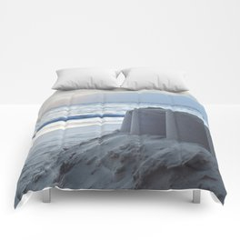 Sand Castle Sunset Comforters