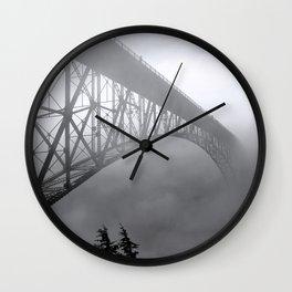 Foggy Deception Pass, Washington Wall Clock