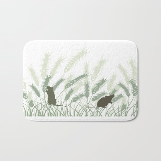 Mice In The Grain No. 1 Bath Mat