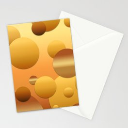 Pattern of soft gradient circles Stationery Cards
