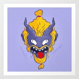 My little demon Art Print