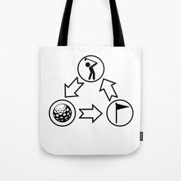 Golfing Golfer Hobby Player Club Tote Bag