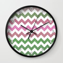 Pink Roses in Anzures 1 Chevron 2T Wall Clock