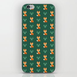 Geometric Foxes iPhone Skin