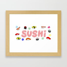 SUSHI | Takahashi-chan Framed Art Print