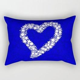 HEART GALAXY BLUE Rectangular Pillow